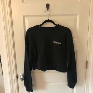Brandy Melville California Cropped Sweatshirt